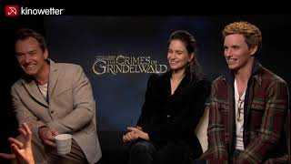 Interview Jude Law, Katherine Waterston & Eddie Redmayne FANTASTIC BEASTS: THE CRIMES OF GRINDELWALD