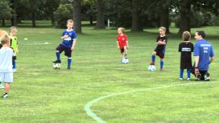 colchester villa under 6 s football training session