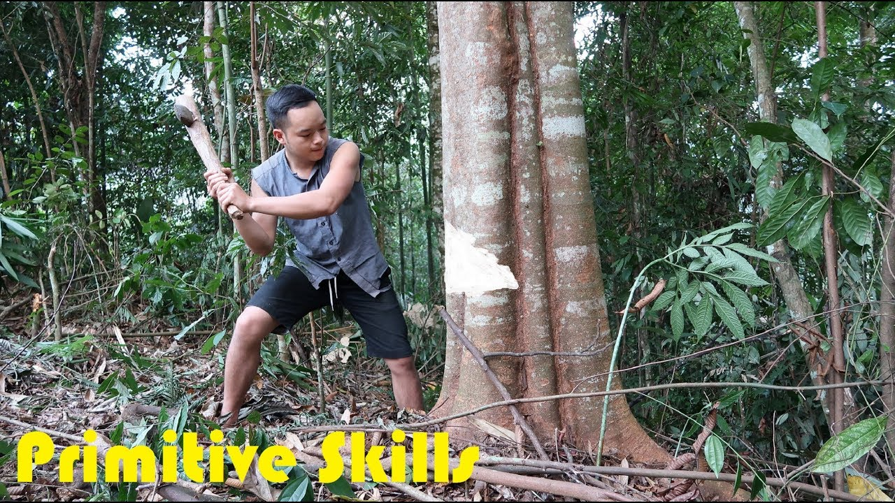 Primitive Technology: Materials Makes a Hut (When migrate to new land same as primitive)