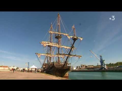 """La réplique du galion de """"Pirates des Caraïbes""""  à Fécamp et Honfleur en juillet"""