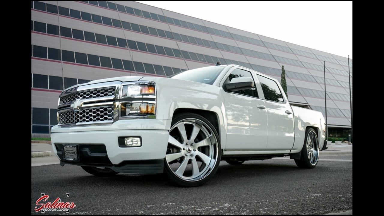 Dropped Chevy silverado cruising on Forgiato wheels ...