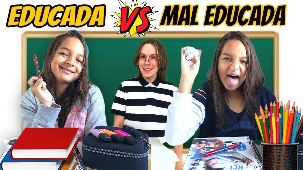 CRIANÇA EDUCADA VS MAL EDUCADA NA ESCOLA  / ft. Tio Lucas e Laila