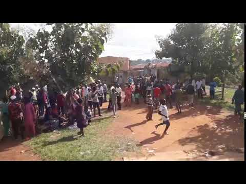 Ekiti Election: Woman Rolls On The Floor As People Celebrate Polling Unit Result (Watch Video)