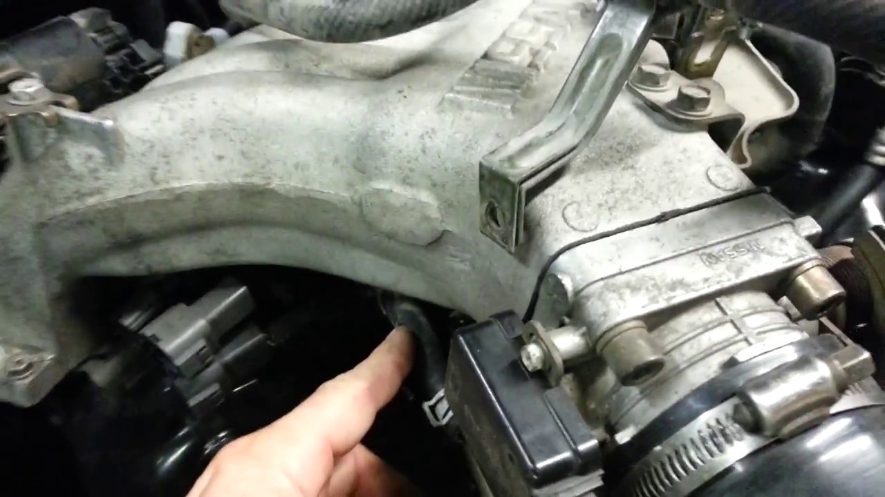 Nissan VG30e throttle body water hose delete