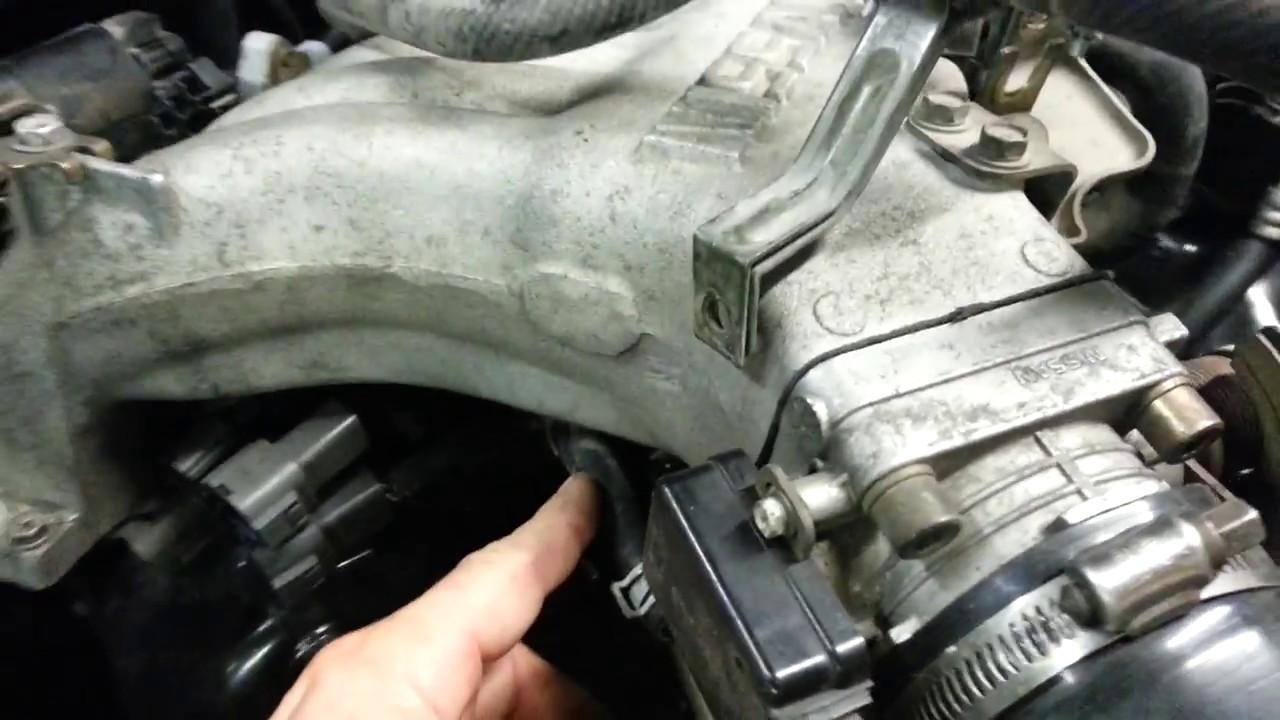 medium resolution of nissan vg30e throttle body water hose delete