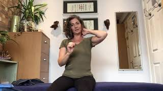 Carol of Greenwood Therapies shows you really simple moves to help loosen a tight neck.