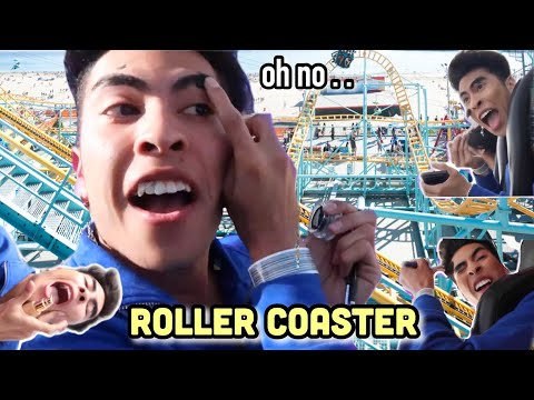 Doing my MAKEUP on a ROLLER COASTER!?! | Louie's Life thumbnail