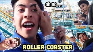 Doing my MAKEUP on a ROLLER COASTER!?! | Louie\'s Life