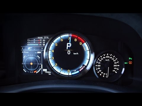 Lexus GS F 477 KM - acceleration 0-200 km/h
