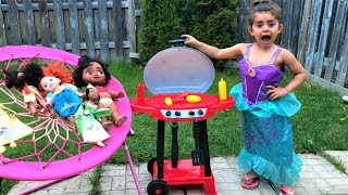 Pretend Play Cooking with BBQ Grill Toy