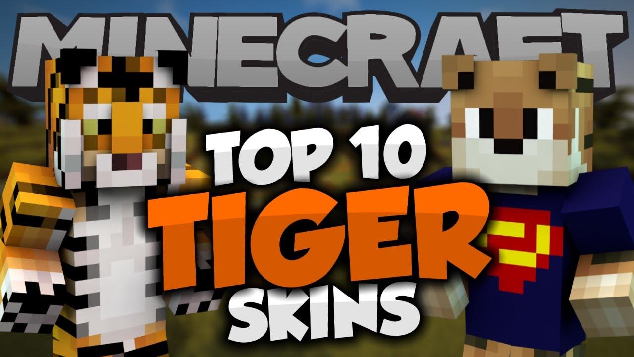 Top Minecraft TIGER SKINS Best Minecraft Skins YouTube - Skins para minecraft pe de animales