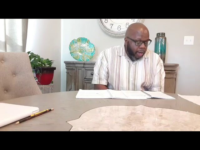 Sunday's Sermon October 18, 2020 Bro Fritz Williams