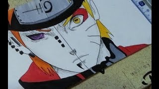 Naruto vs Pain ∼ Half-face drawing ( Copic ) / ナルト