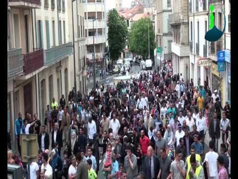 Manifestation des citoyens Français Musulmans de Béziers contre les prospos de Robert Ménard