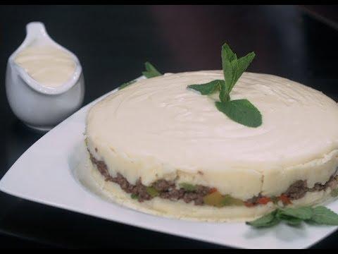 كيك البسكويت بالاسبريد والصلصه البني والصلصه البيضاء بالجبنه الرومي | البلدي يوكل PNC FOOD