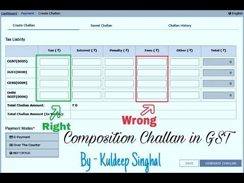 How To Create Composition Challan On GST Portal  Composition चालान कैसे बनायें।