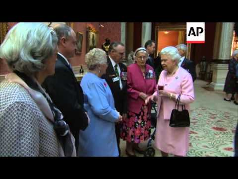 Queen Elizabeth Hosts Reception For Recipients Of Victoria Cross And George Cross