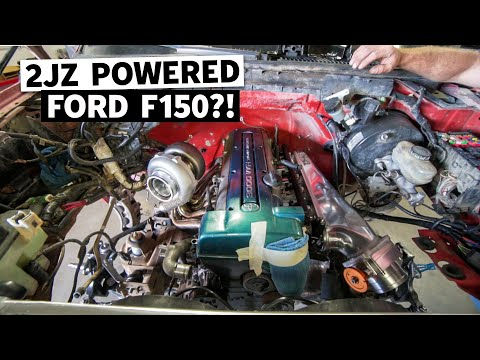 Our 2JZ Swapped Ford F-150 Build Gets a Turbo, and Hand-me-Down Racecar Parts!