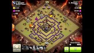 Clash of Clans - Destroy Multiple Air Defenses with Lightning & Earthquake Spells