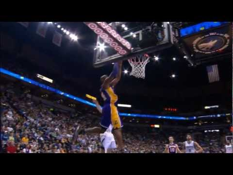 Kobe Bryant Finishes the Oop with Authority