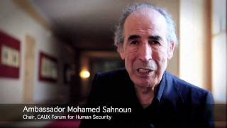 Mohamed Sahnoun at the 2011 Caux Forum for Human Security