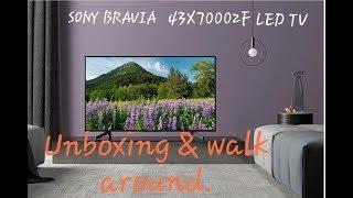 SONY BRAVIA KD-43X7002F 4k smart LED tv , unboxing