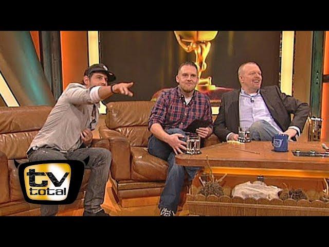 Profi-Gangster Moritz Bleibtreu und Axel Stein - TV total