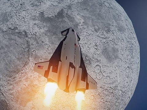 near space shuttle moon - photo #35