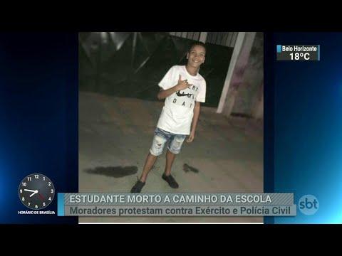 Rio decreta luto por morte de estudante baleado a caminho da escola | SBT Brasil (21/06/18)