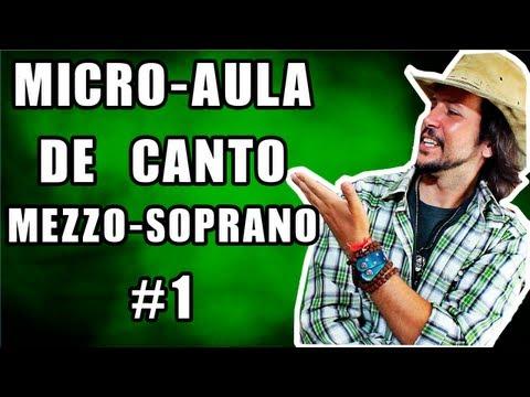 Micro Aula de Canto Feminino 01 Mezzo Soprano