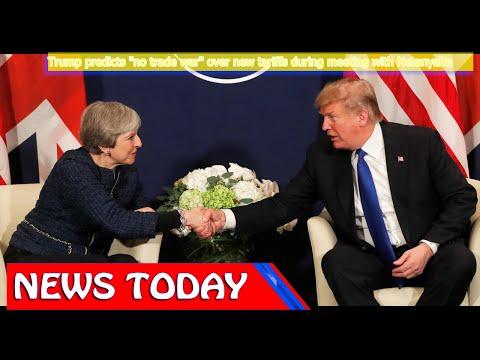 "World News - Trump predicts ""no trade war"" over new tariffs during meeting with Netanyahu"
