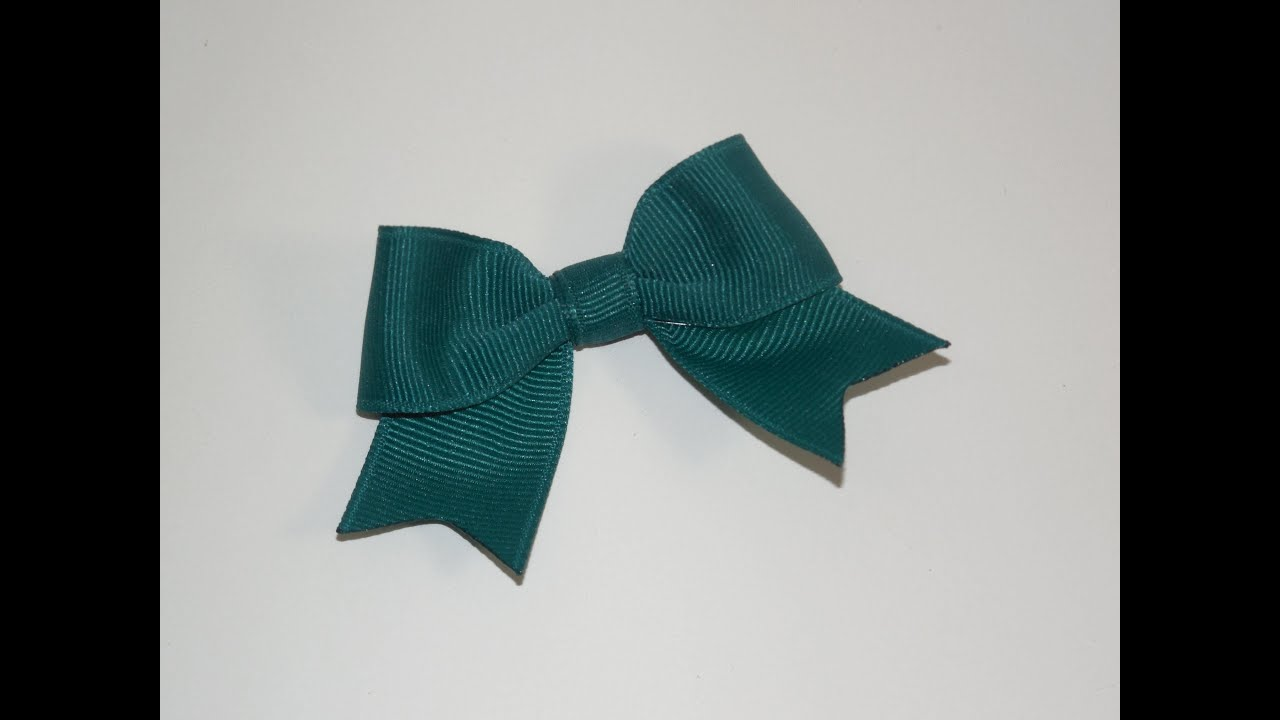 How To Make a Small Elegant Boutique Hair Bow - YouTube