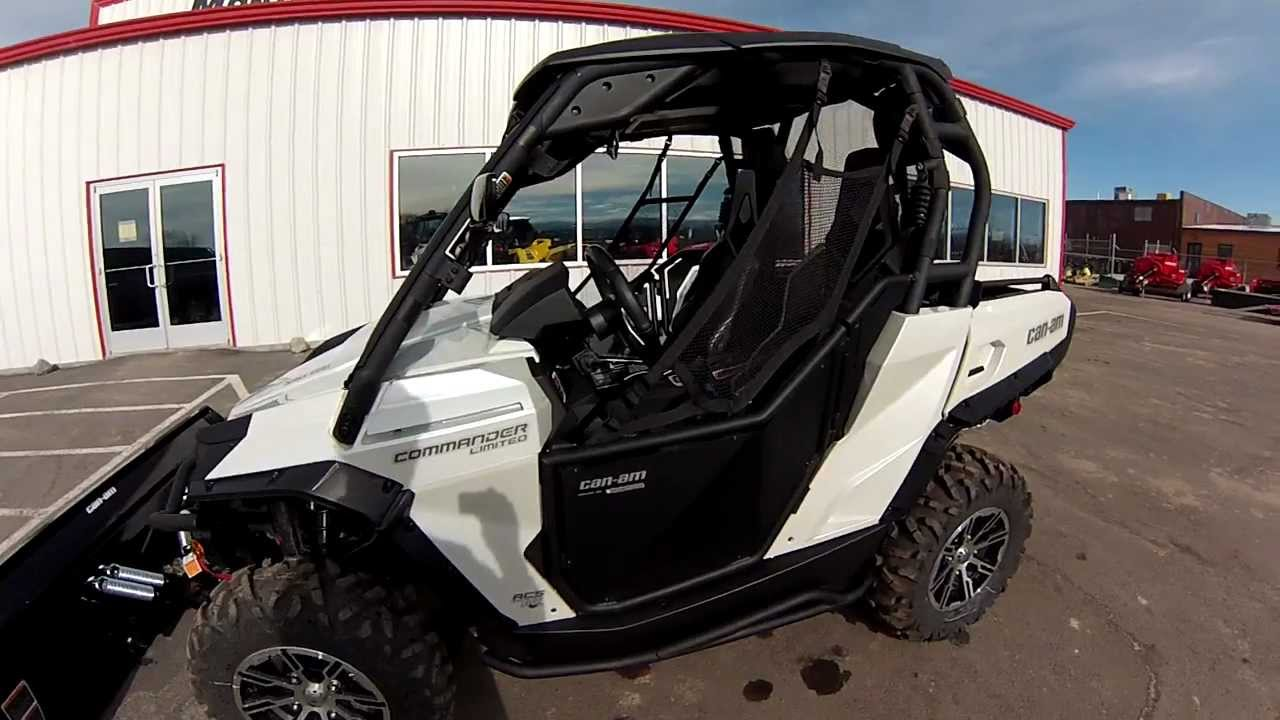 & 2013 Canam Commander Limited with new accessories installed - YouTube