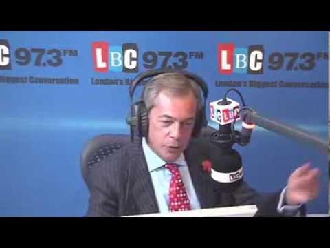 UKIP Nigel Farage on LBC 97 3 Radio , Energy prices, HS2 & Education  - November 2013