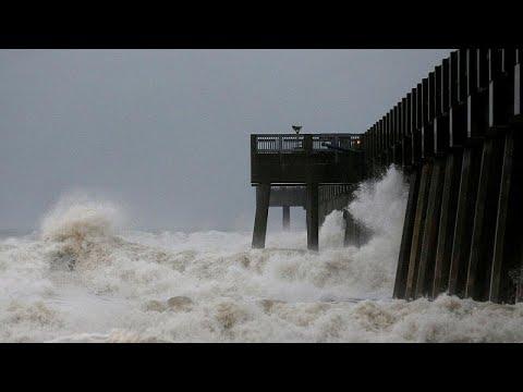 Kategorie 4 Hurrikan Michael donnert über Florida