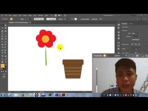 Vẽ hoa bằng phần mềm Illustrator AI by Còi Photoshop Chanel