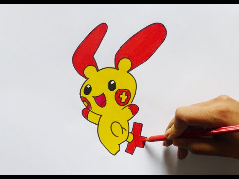 Dibujando y pintando a Plusle (pokemon) - Drawing and painting to ...