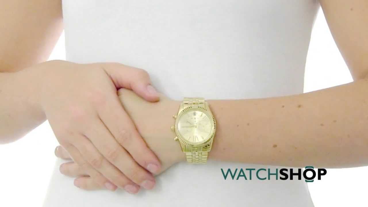 09467c753ae4 Michael Kors Ladies  Lexington Chronograph Watch (MK5556) - YouTube