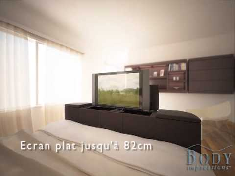 lit tv avec tv ecran plat youtube. Black Bedroom Furniture Sets. Home Design Ideas