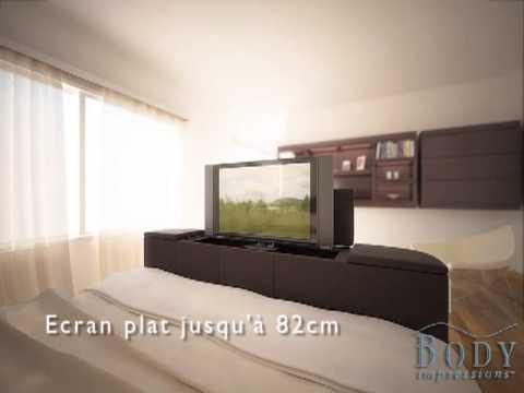 lit tv avec tv ecran plat youtube