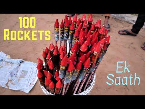 आकाश में धमाल मच गया जब मैंने 100 दिवाली रॉकेट्स को एक साथ चलाया   दिवाली धमाका By- Blade XYZ  