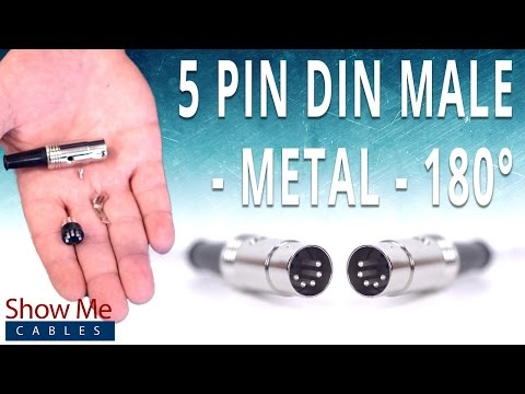 how to install the 5 pin din male solder connector (180° style) - metal -  youtube