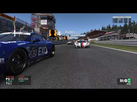Project cars VR On line Multiplayer GT3 Spa