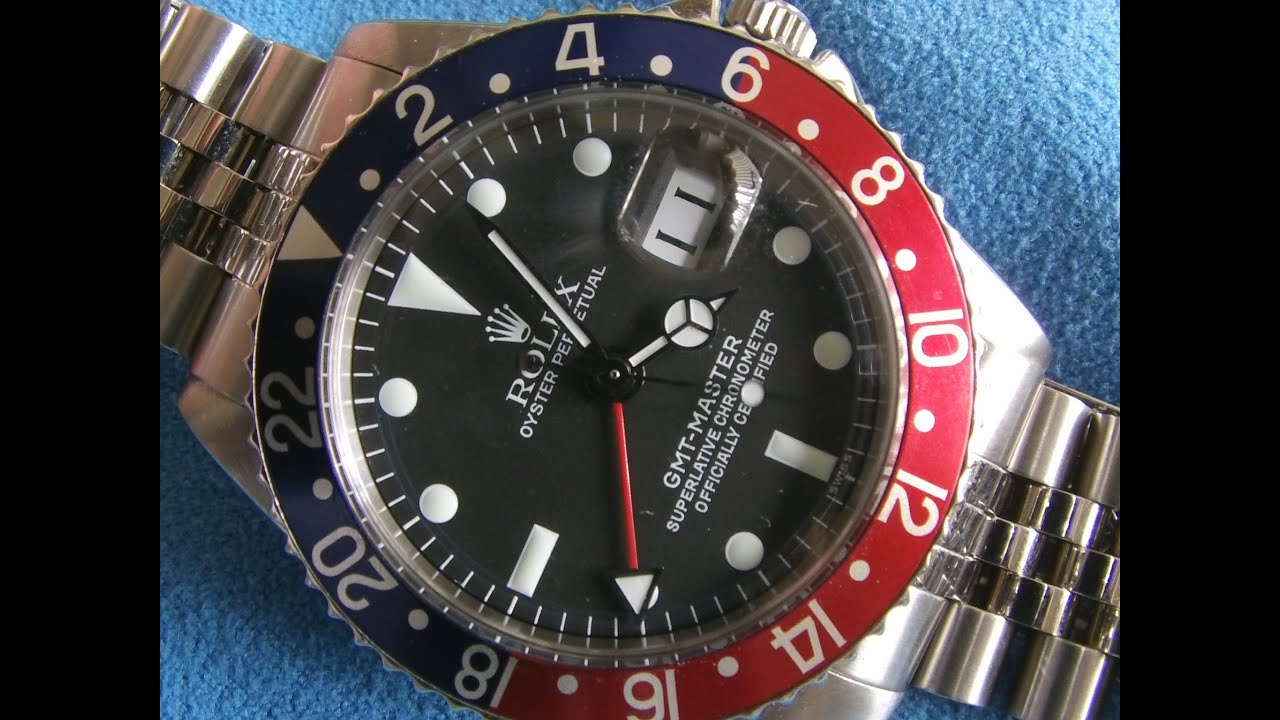 Vintage ROLEX GMT MASTER *1675* Review - Beautiful !! - YouTube