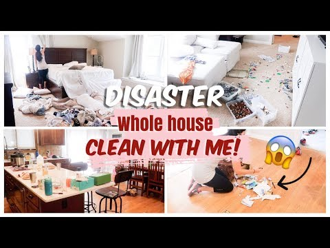 COMPLETE DISASTER ULTIMATE CLEAN WITH ME || WHOLE HOUSE CLEAN WITH ME || CLEANING MOTIVATION|