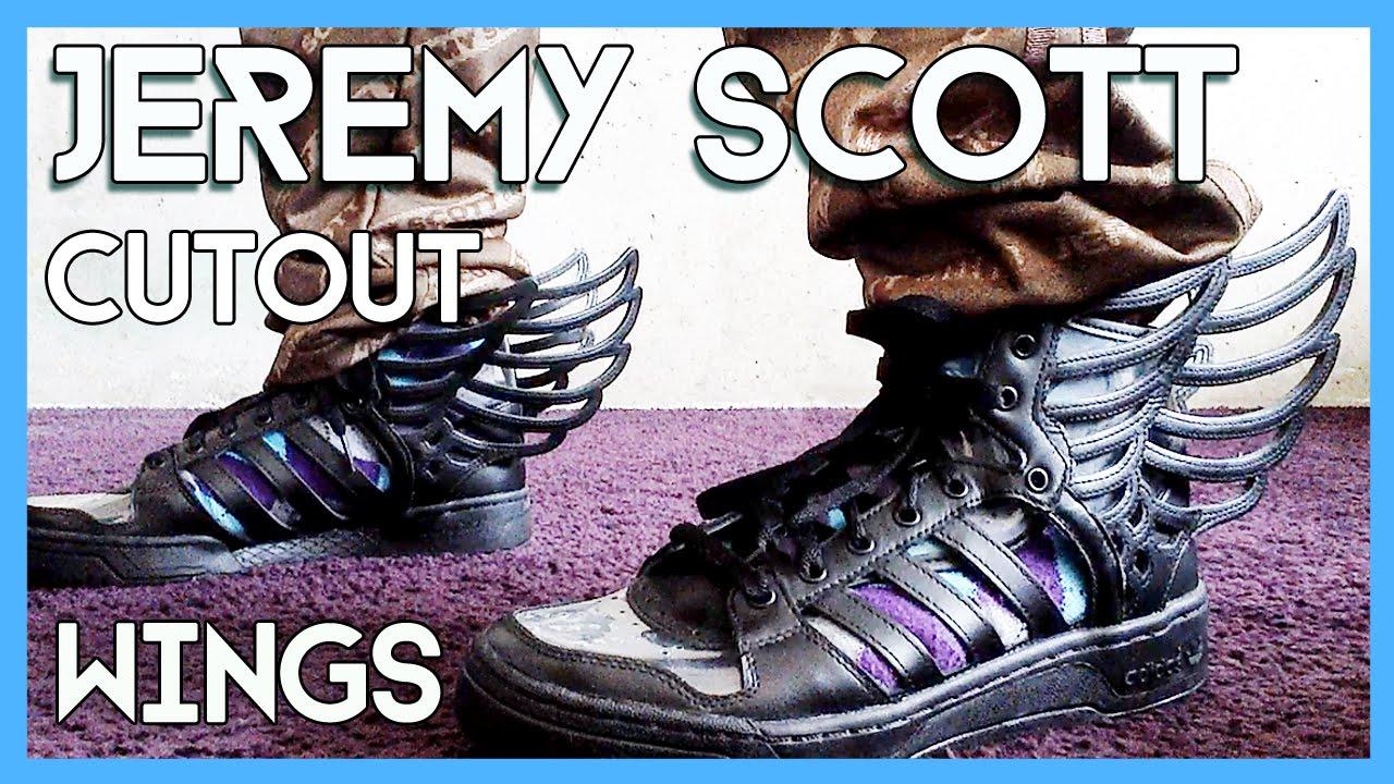 Jeremy Scott x adidas cutout WINGS 2.0 on feet - YouTube 01de3709ac7a