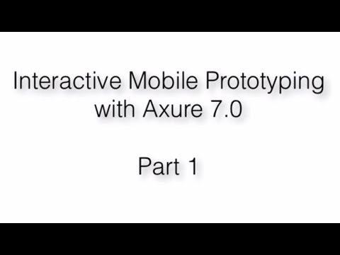 Interactive Mobile Prototyping - Part 1