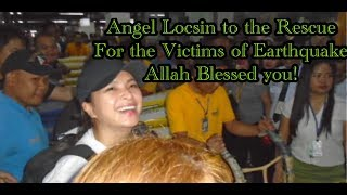 Angel Locsin/Niel to the  rescue/Spotted buying relief goods for Earthquake victims in MINDANAO