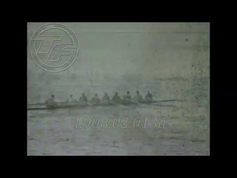 HELSINKI 1952 rowing Coxed Eights (Amateur Footage)
