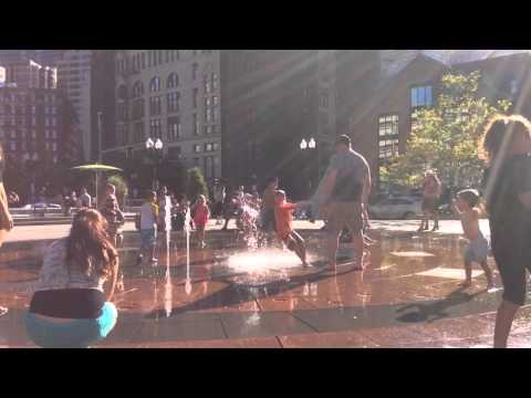 Rose kennedy greenway boston end of summer